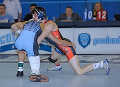 Columbia v Bucknell (Leo Tard1) Tags: canon eos 5d iv usa ny nyc wrestling collegewrestling wrestle wrestler male singlet indoor sport sportfight athletic athlete leotard dual 2018 columbiauniversity lions bucknelluniversity bisons 133lb aleckelly davidcampbell