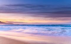 Soft Sunrise Seascape (Merrillie) Tags: daybreak sunrise cloudy australia nsw centralcoast clouds sea newsouthwales rocks earlymorning morning water landscape ocean nature sky waterscape coastal seascape outdoors killcarebeach dawn coast killcare waves