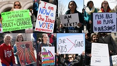 Some more signs at the March For Our Lives Rally (kimmy aoyama) Tags: marchforourlives enough washingtondc pennsylvaniaave guncontrol rally protest march242018 poster sign secondamendment 2ndamendment gun kill militia warzone school voter guns fear policy change knowledge neveragain shepardfairey