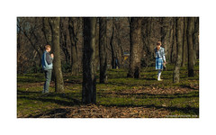 Meeting in the park (Alexandr Voievodin) Tags: boy girl children park trees grass landscape nikon1v1 ngc