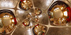 Mandala Living Room (Lee Rosenbaum) Tags: indoors theta360 spiral mandala quincuncial ricohthetas livingroom abstract pattern regression panorama plate 360degree mathmap