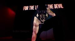 The Battle worn  Protector (GiovanniButton) Tags: gamer dark gay lgbt devil gasmask ww3 bitten bruised scatch sl slphotography lindenlabs men male boys guys spikes vest boots