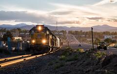 The Military Branch (Wheelnrail) Tags: up union pacific train trains emd gp402 denver south local military branch industrial railroad railway rails mountains sunset urban