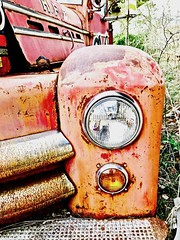 """The Limits of Desire"" (Halvorsong) Tags: art america americana abandoned abandonedplaces composition color colors red orange rust classic classiccars decay discover explore fire fireengine fireengines hiddengems junk junkyard neglect hope life oxidization oxidized photography photosafari vintage weathered old oldschool truck oldtruck oldtrucks beauty desire industry impressionism nostalgia light masterpiece texture textured paint country usa groundlevel closeup wow road roadside street discovery forgotten rusty rustic rural smalltown nashville salvage"