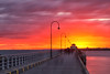Explosion of colour (Pat Charles) Tags: sunset stkilda pier jetty melbourne victoria australia longexposure tripod sea ocean portphillipbay bright colour color colours colors intense orange red sky clouds lights leadinglines horizon nikon evening dusk