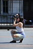 Holding the position to shoot (jeangrgoire_marin) Tags: candid candides candids lady pretty photographer shoot sunny warm spring stphotographia shooting