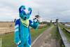 DSC_4478 (Noodlesfur) Tags: fursuit fursuiter fursuiting kinderdijk husky blue blooberry kaiser wildmills windmill dutch netherlands holland
