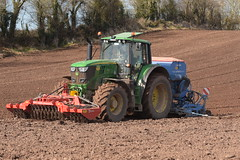 John Deere 6195M Tractor with a Twose FP1-300 Premium Front Press and a Lemken Solitair 8 Seed Drill (Shane Casey CK25) Tags: john deere 6195m tractor twose fp1300 premium front press lemken solitair 8 seed drill jd green midleton traktor trekker traktori tracteur trator ciągnik spring barley sow sowing set setting drilling tillage till tilling plant planting crop crops cereal cereals county cork ireland irish farm farmer farming agri agriculture contractor field ground soil dirt earth dust work working horse power horsepower hp pull pulling machine machinery grow growing nikon d7200