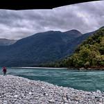 Pano: Haast River at Roaring Billy Falls thumbnail