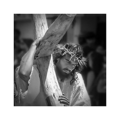 Good Friday (posterboy2007) Tags: ajijic mexico thepassionplay crucifixion street jesus cross monocbrome