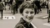 Sorriso e spensieratezza (Smau87) Tags: sorriso smile felice happy portrait primopiano nikon 35mm nikkor blackandwhite bw bn viso ritratto furba smart bianconero vintage she lei ritrattofemminile