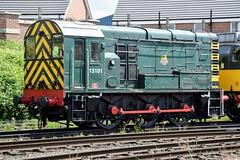 13101 (D3101) GCR Loughborough (cmc_1987) Tags: 13101 d3101 class08 dieselshunter gronk gcr loughborough preservation br britishrail lms 060 pilot brgreen