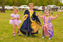 All princesses stop for a camera (radargeek) Tags: normanmedievalfaire2017 2017 norman oklahoma medievalfair children kids princess fairy tutu costume sisters