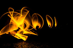 Golden Thingie (Dazed&Konfuzed) Tags: goldenlight lightpainting abstract mysterious paintingwithlight colourful noctography night mystery longexposure