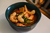 Spicy Tofu Soup with Baby Bok Choy and Veggie-Shrimp (Vegan) (Vegan Butterfly) Tags: vegetarian vegan food yummy tasty delicious supper dinner meal bowl soup spicy hot tofu baby bok choy veggie shrimp meatless