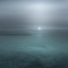 Moonshine (www.neilburnell.com) Tags: icm intentional camera movement art fineart brixham devon sea waves ocean lighthouse