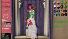 Uni-qu3 Margarite gown dress  hud (uniqu3fashion) Tags: twe12ve april fairy tale fairytale event monthly gown garden dress secondlife second life matreya slink tonic ocasin hud