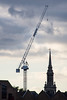 Ascension (marktmcn) Tags: winch hydraulic st pauls church shadwell steeple spire crane lifting ascension towering over sky d610 nikkor 28300mm