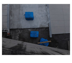 [ B L E U  /  B L A N C  /  R O U G E ] (michelle@c) Tags: urban cityscape city landart worksite three drei packing wrapped cement paving dusk troiscouleurs blue white red blau weiss rot cinematographic tribute mmmkk parisxiii 2018 michellecourteau