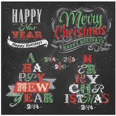 Free Vector Merry Christmas and New year Chalkboard typography logo (cgvector) Tags: 2014 2015 2016 background card celebration chalk chalkboard christmas christmastree creative decoration decorative green greeting merry merrychristmas red retro ribbons style vector vintage xmas year