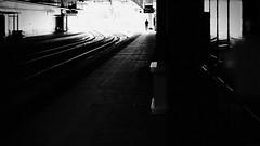 still waiting (frax[be]) Tags: streetphotography street atmosphere dark noir station highcontrast moody fuji xe3 45mm rokkor tunnel urban silhouette poetry monochrome noiretblanc bnw bw blackandwhite compo
