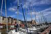 Port de Honfleur en Normandie (louis.labbez) Tags: normandie france labbez honfleur mer port harbour maison pier voilier boat voile flag drapeau ciel sky nuage cloud sea marin embarcadère