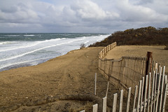 All That's Left (brucetopher) Tags: empty fence winding curve curves fencing dune cliff edge water ocean sea beach atlantic coast coastal seacoast cloud clouds windy wind weather cold blustery wave waves surf storm surge tide hightide light 7dwf