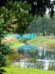Bridge reflections (eliserichards) Tags: frame vibrant colour reflection reflections water river shugborough nationaltrust green blue bridge