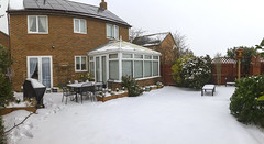 Panorama-3 (Roger Brown (General)) Tags: snow white winter garden house panorama canon 7d sigma 18250mm roger brown