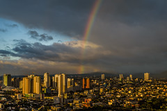 the pot of gold.... (Genylend) Tags: rainbow clouds sky nature landscape manila philippines architecture city