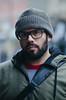 Ramon In Jersey City (Melissa Segal) Tags: man nj new jersey fun friend portrait people make cool hat glasses winter cute handsome beard face street streetphotography