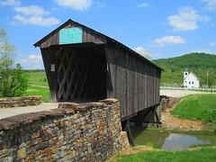 Goddard Covered Bridge and United Methodist Church (tcpix) Tags: goddard coveredbridge unitedmethodistchurch flemingcounty kentucky