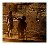 Connexion (Marie Hacene) Tags: parisplage quais enfant ombre mur été