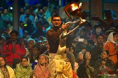 Worshiping The Holy River Ganga (Anustup Lahiri) Tags: benaras varanasi gangaarati arati worship faith hinduism hindu peace sanctity salvation incredibleindia ganga indianculture puja