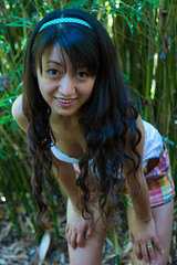 Mei (Chris-Creations) Tags: outdoors 20070526048 chinese asian woman smiling smile girl outside bamboo