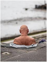 Human Bust (exreuterman) Tags: southend beach seafront essex thames pier sun sunbathing boats mist tide sand