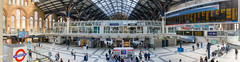 Panorama of Liverpool Street station in London (marcoverch) Tags: londonmarathon2018 london england vereinigteskönigreich gb railway eisenbahn business geschäft transportationsystem transportsystem public öffentlichkeit train zug city stadt terminal airport flughafen departure abfahrt modern shopping einkaufen subwaysystem ubahnsystem station bahnhof stock travel reise commuter pendler urban städtisch commerce handel building gebäude indoors drinnen second landschaft airbus cherry woods eau stars port tokyo pentax panorama liverpoolstreetstation
