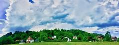 Clouds over Kiefersfelden, Bavaria, Germany (UweBKK (α 77 on )) Tags: clouds kiefersfelden bavaria bayern germany deutschland europe europa iphone sky green trees buildings houses