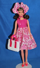 Pink Floral Tenterrific (toomanypictures1) Tags: ooakclothes barbie francie curvy reproduction american girl made move mattel