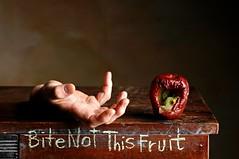 Bite Not This Fruit (Studio d'Xavier) Tags: werehere iholdinmyhand stilllife bite not this fruit apple hand mold 151482