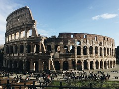 (maycambiasso98) Tags: vacation day sun history city travel visit old art italy italia rome romano roma coliseo colosseo