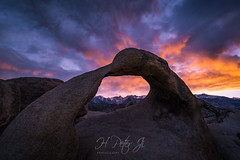 Sky was ablaze (ScorpioOnSUP) Tags: a7iii ablaze adventure alabamahills arch backcountry clouds dark dramatic dusk easternsierra landscape landscapephotography mobiusarch mountains mtwhitney nature outdoors rockformations seekingsolitude sierranevada snowcladmountains sony sunset sunsetglow tranquility wilderness