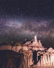 Bisti Night Painting (MTD Photos) Tags: bisti bistibadlands milkyway nmsky newmexico astrophotography badlands desert landscape mattdomonkos nature night nightscape rock rockformation sky space stargazing