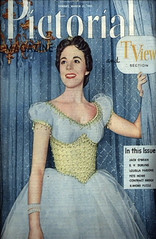 "Julie Andrews, Pictorial & TV View Section Magazine Cover for Rodgers & Hammerstein's ""Cinderella,"" 1957 (classic_film) Tags: cinderella 1957 fifties 1950s tv television musical music musik julieandrews singer actress actrice actriz schön schauspielerin aktrice woman frau mujer girl celebrity hübschefrau hübschesmädchen mujerbonita niñabonita american history época ephemeral vintage retro nostalgic nostalgia añejo alt america fashion clothing clothes entertainment old jahrgang ropa kleidung romantic romance style prettygirl pretty beauty beautiful blackandwhite monochrome usa unitedstates oll advertising advertisement advert ad reklame anuncio anzeige printad publicidad publicité magazine magazinecover"