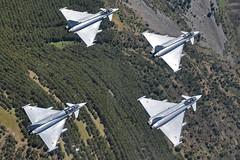 Ensayos Día de las Fuerzas Armadas (Ejército del Aire Ministerio de Defensa España) Tags: caza jet fighter logroño nubes paisaje verde vuelo flight eurofighter ala14 flying formation diamond rombo