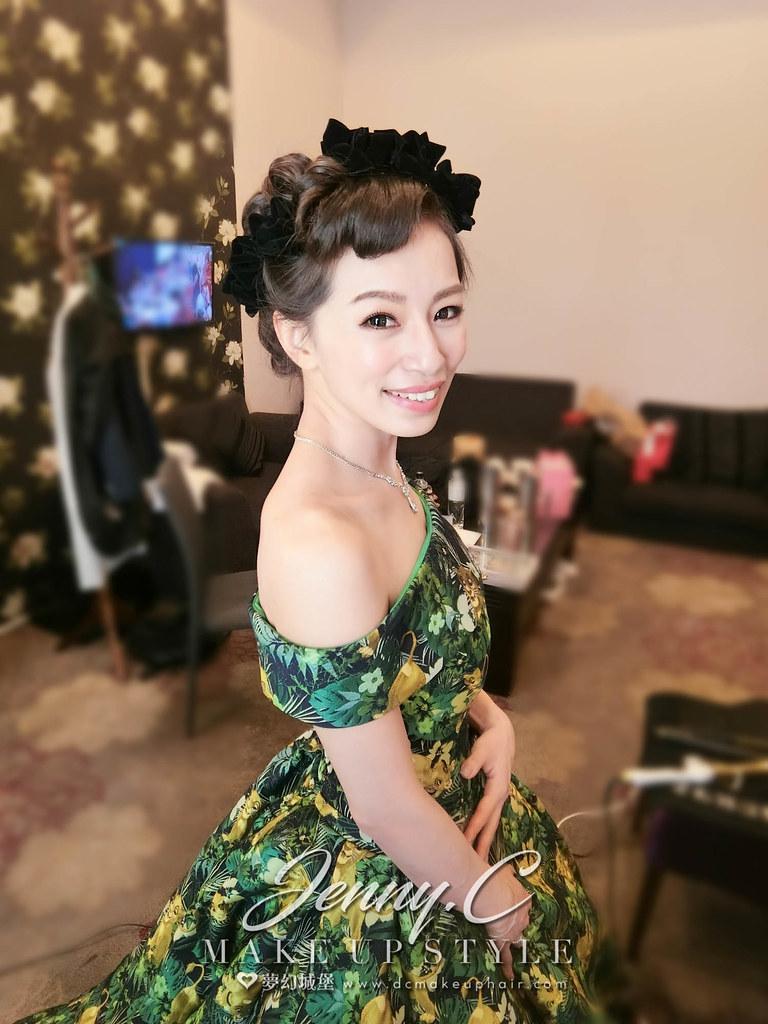 【新秘蓁妮】bride欣儀 歸寧造型 / 彰化全國麗園大飯店