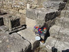 Between a rock and a hard place 14/51 (pefkosmad) Tags: tedricstudmuffin teddy ted bear holiday holibobs animal cute toy cuddly soft stuffed fluffy plush pefkos pefki pefkoi rhodes rodos greece greekislands griechenland hellas stellahotel