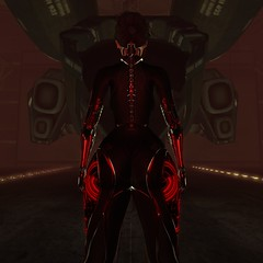 Attack ships on fire off the shoulder of Orion (thestorygiver) Tags: scifi sl cyberpunk cyber future dystopian dystopia blade runner prosthetic space spaceship robot cybor fantasy naberius collabor88 r2 omnis tram catwa maitreya insol art