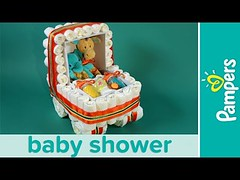 Diaper Cake Ideas: Stroller Diaper Cake   Pampers Baby Shower Ideas (fspoon22) Tags: baby cake diaper ideas pampers shower stroller
