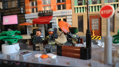 WarGearTech Squad S.T.U.D. (FrostNovejkee) Tags: city street cafe shop minifigures life minifig military soldiers exoskeleton